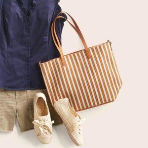 T-Shirt & Jeans Striped Tote Bag Stitch Fix NWT